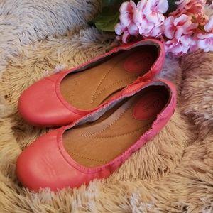 Clarks Pink Artisan Ballet Flats